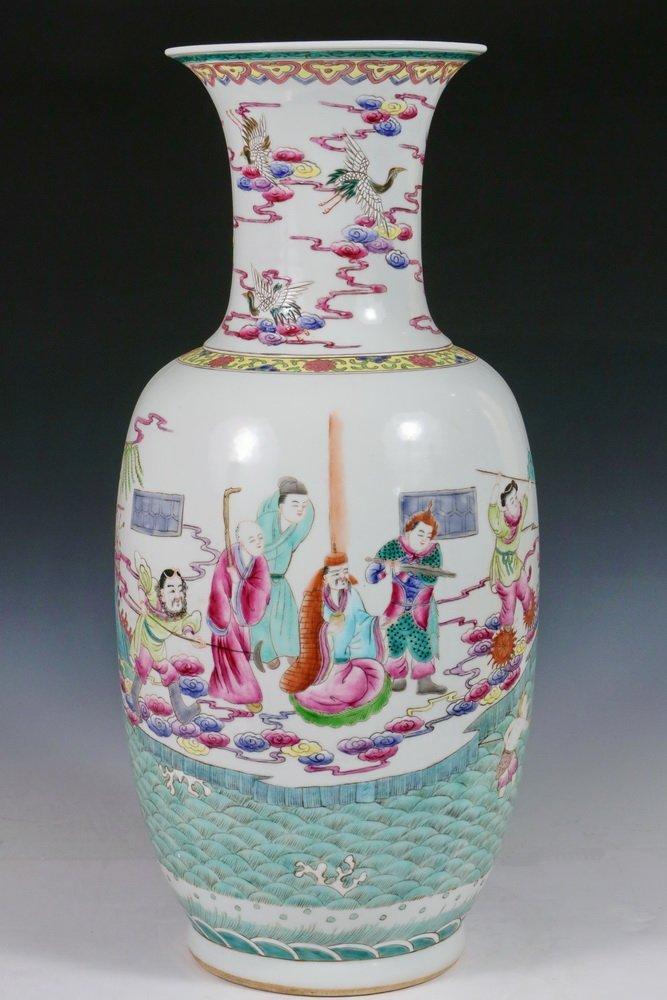 CHINESE PORCELAIN FLOOR VASE - Qing Style Baluster Vase