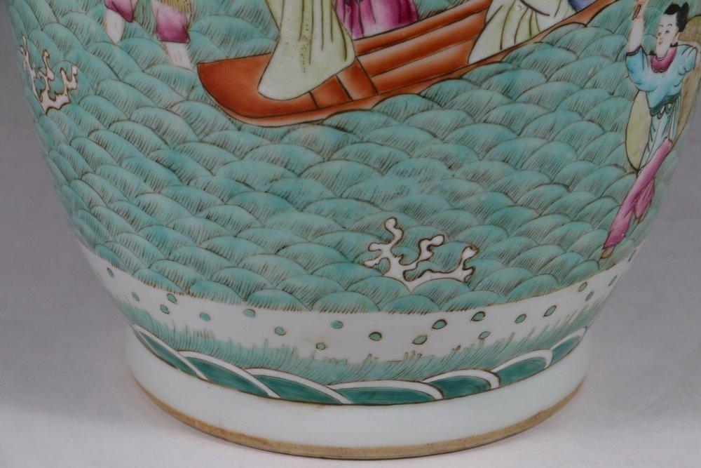 CHINESE PORCELAIN FLOOR VASE - Qing Style Baluster Vase - 5