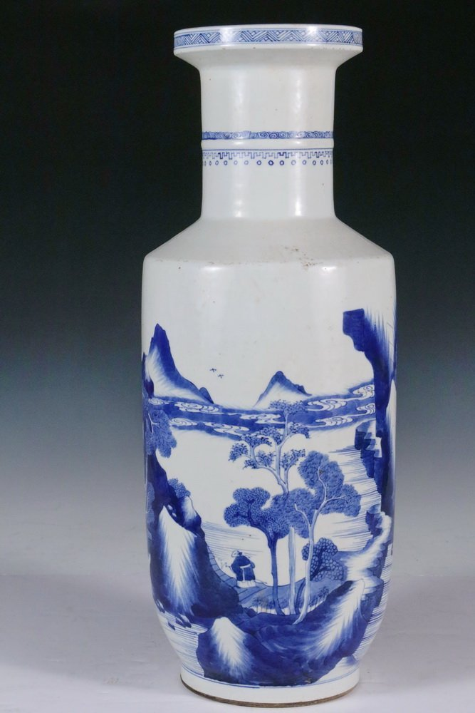 CHINESE PORCELAIN BALUSTER VASE - Kangxi Style High - 2