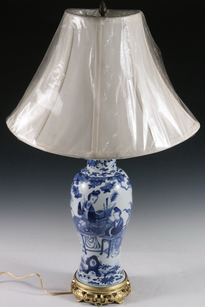 CHINESE EXPORT VASE AS TABLE LAMP BASE - Qing Style - 3