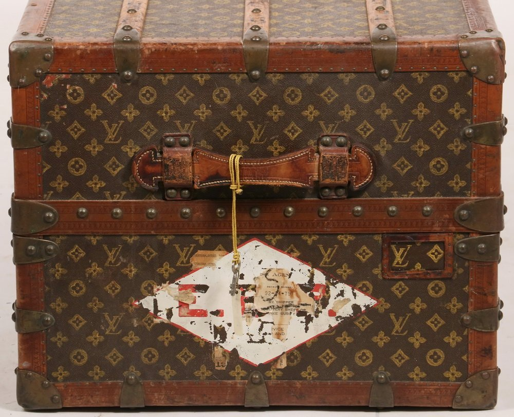 1920s LOUIS VUITTON STEAMER TRUNK - The iconic Louis - 6