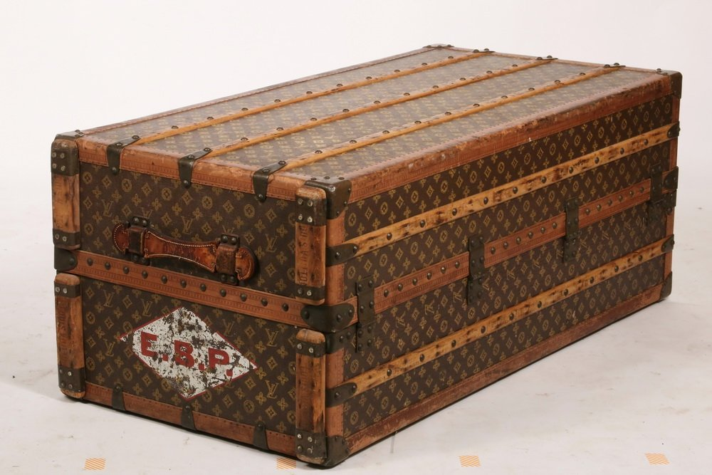 1920s LOUIS VUITTON STEAMER TRUNK - The iconic Louis - 7