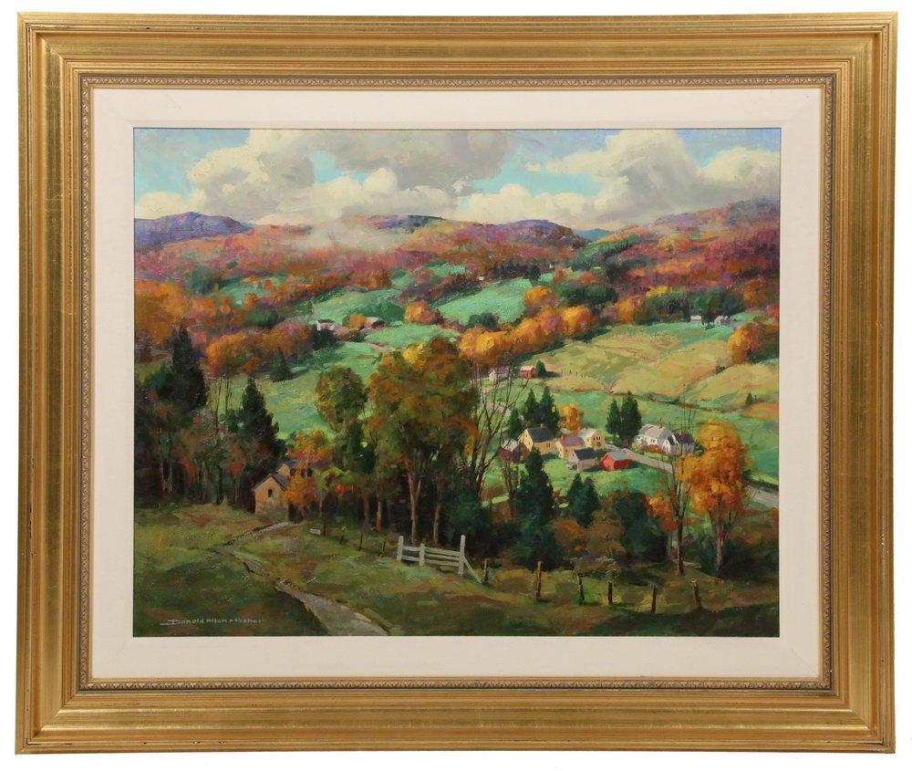 """DONALD MOSHER (MA, 1945-2014) - """"Fall Foliage"""", oil on"""