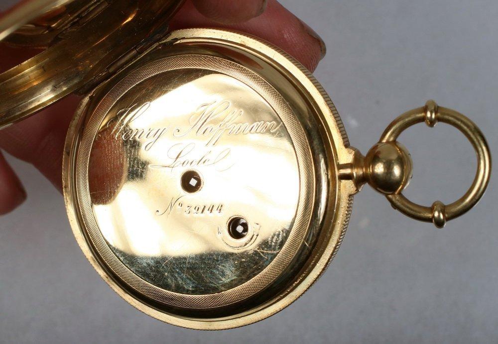 WATCH - Heavy 18K Yellow Gold Man's Hunter Case Pocket - 3