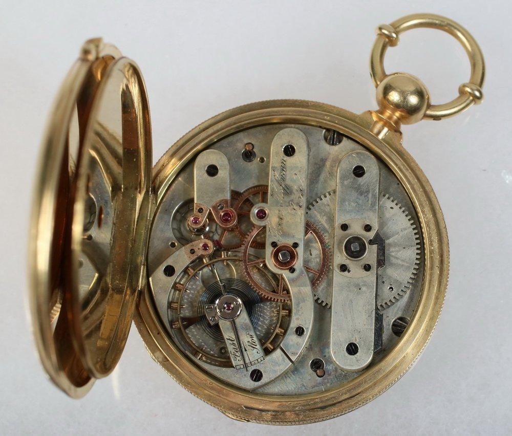WATCH - Heavy 18K Yellow Gold Man's Hunter Case Pocket - 4
