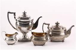 TEA & COFFEE SERVICE - (4) Pc. English Sterling Silver