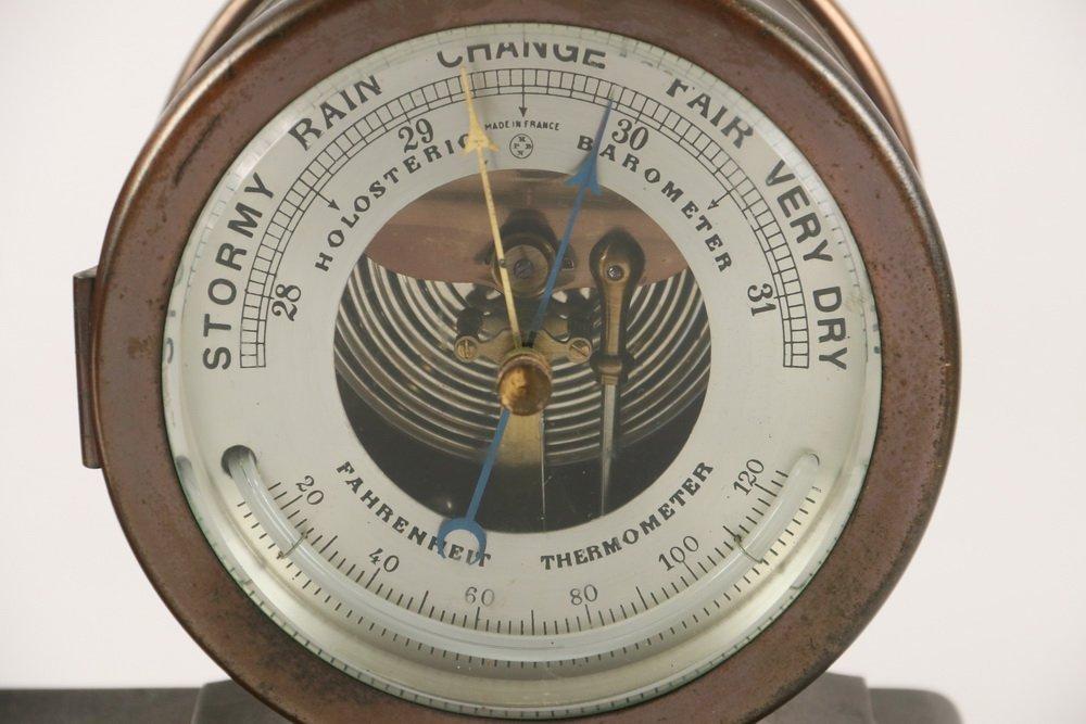 DESK CLOCK/BAROMETER SET - Chelsea Clock Co. of Boston, - 3