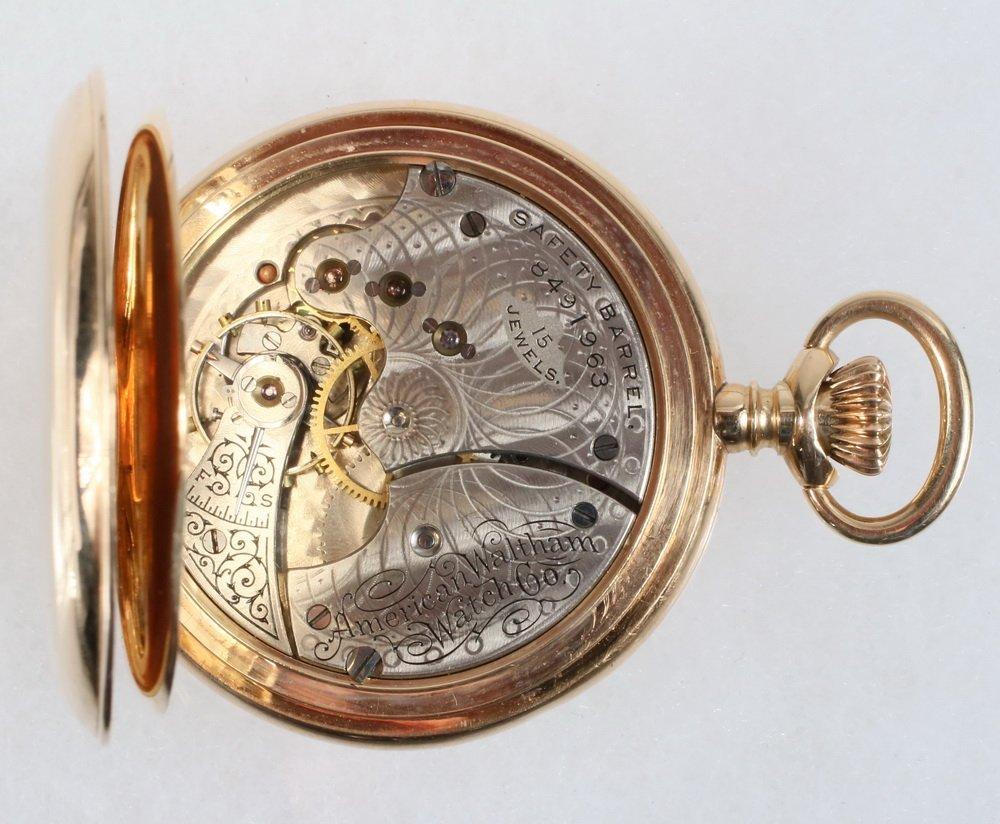 WATCH - 14K Yellow Gold Hunter Case Lady's Pocket Watch - 3