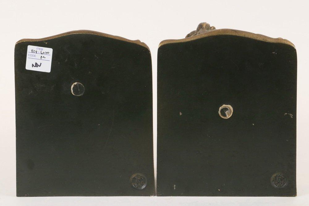 PAIR OF BOOKENDS - Bradley & Hubbard Gilt Spelter Metal - 2
