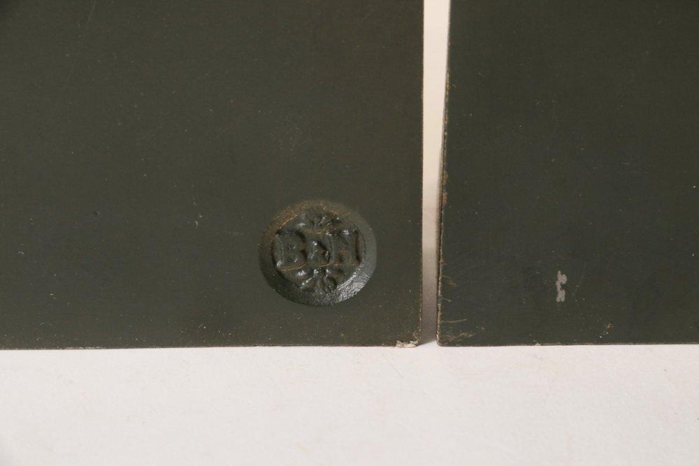 PAIR OF BOOKENDS - Bradley & Hubbard Gilt Spelter Metal - 3