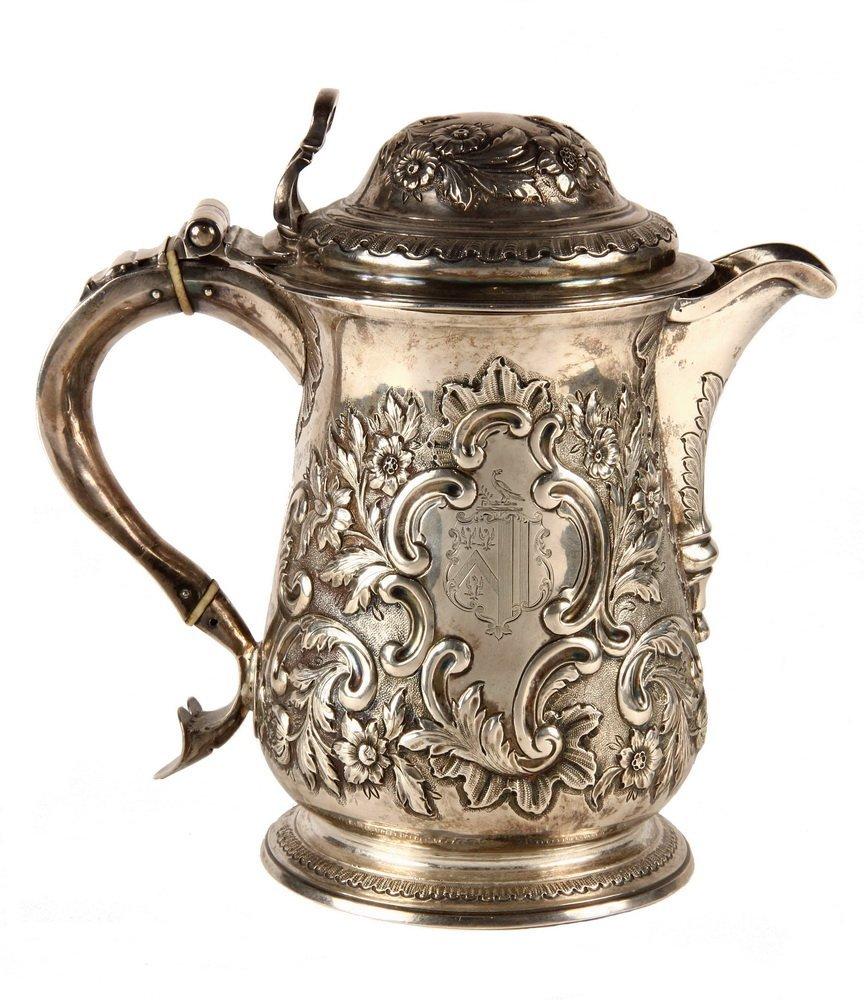 TANKARD - English George II Period Sterling Silver