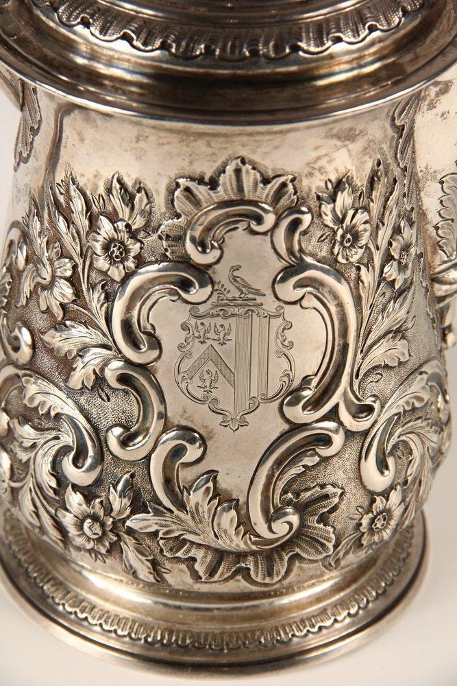 TANKARD - English George II Period Sterling Silver - 2