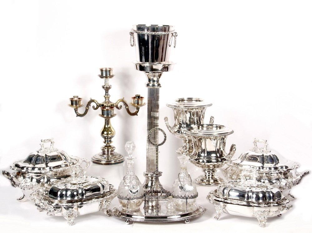 ACCESSORIES - Group of (10) Silver Plated Decorative