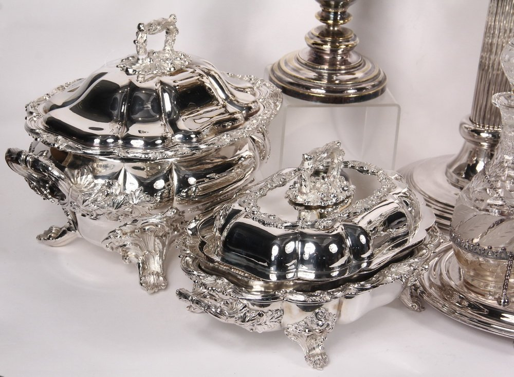 ACCESSORIES - Group of (10) Silver Plated Decorative - 2