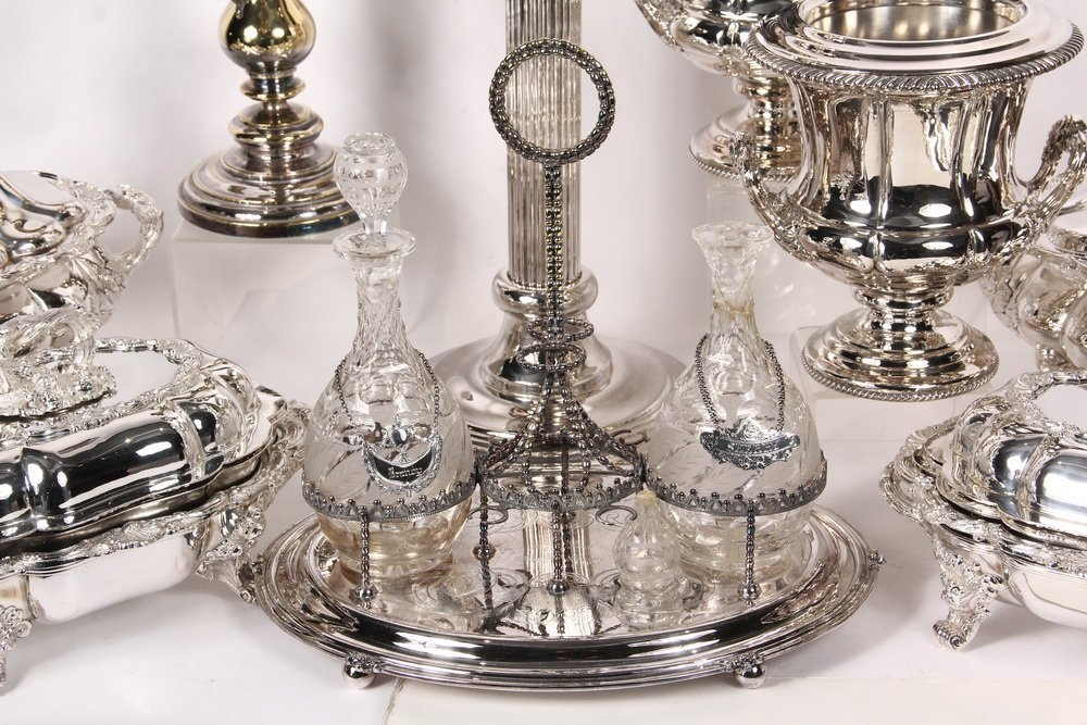 ACCESSORIES - Group of (10) Silver Plated Decorative - 4