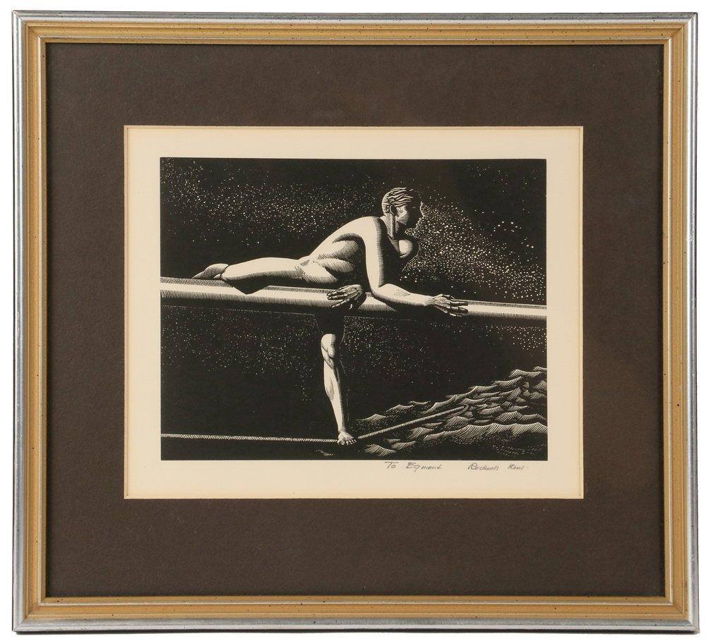 "ROCKWELL KENT (NY, 1882-1971) - ""Bowsprit"", wood"