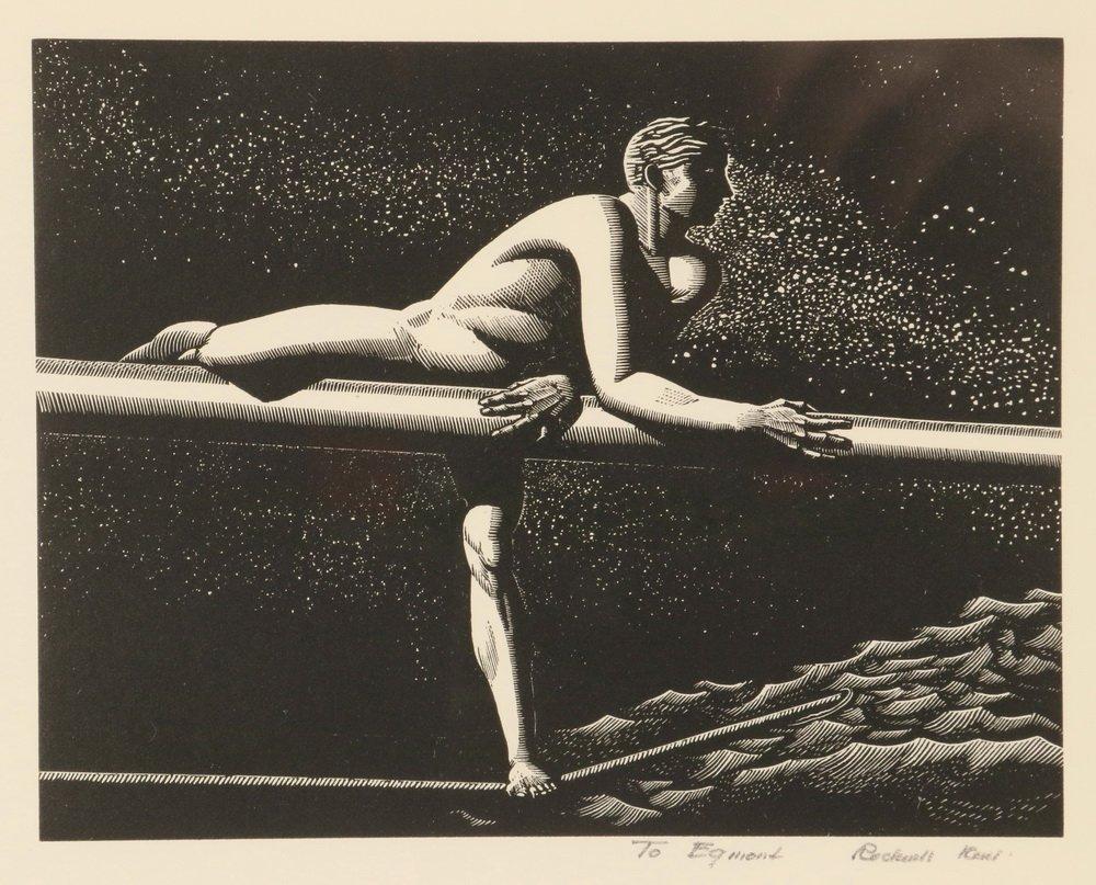 "ROCKWELL KENT (NY, 1882-1971) - ""Bowsprit"", wood - 2"