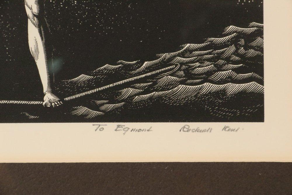 "ROCKWELL KENT (NY, 1882-1971) - ""Bowsprit"", wood - 3"