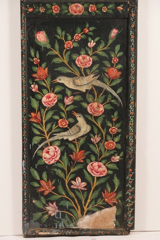 PAIR OF PERSIAN PAINTED WEDDING DOORS - Late 19th c. - 4
