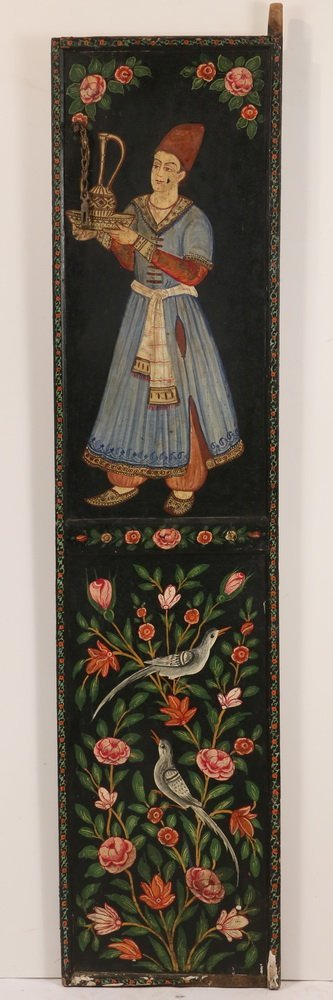PAIR OF PERSIAN PAINTED WEDDING DOORS - Late 19th c. - 6