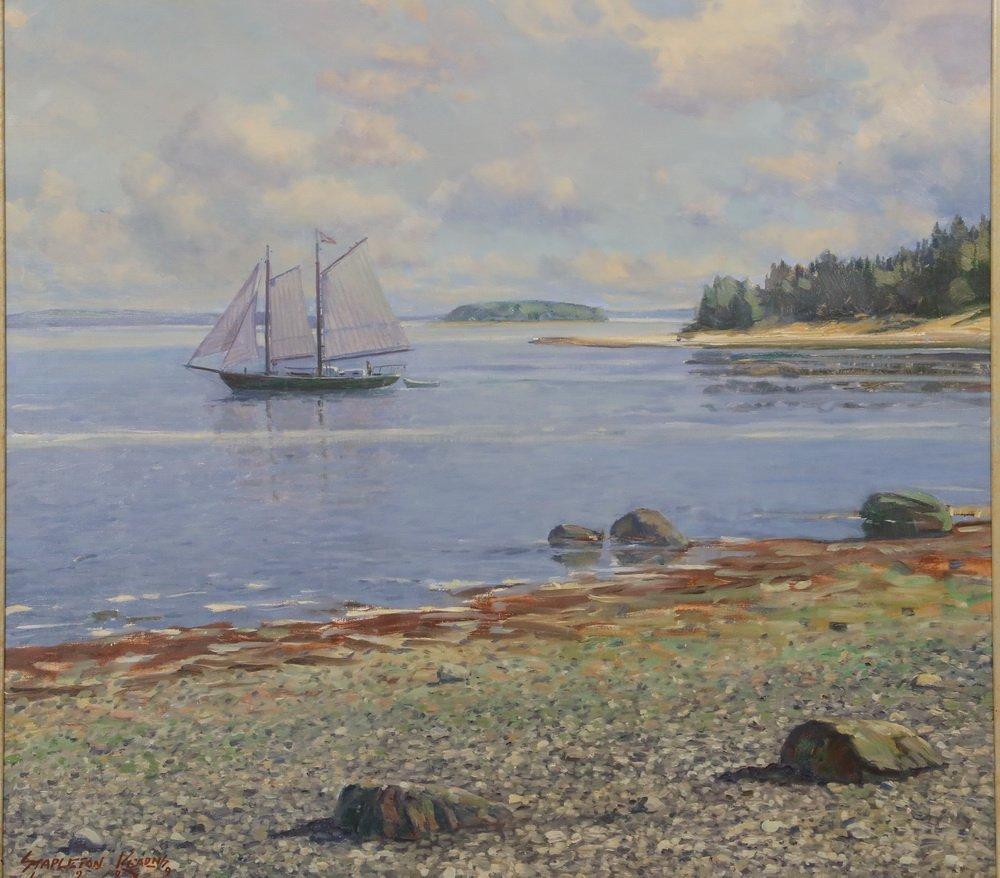 "STAPLETON KEARNS (MA/ME/MN, 1952 - ) - ""Sailing Off - 2"