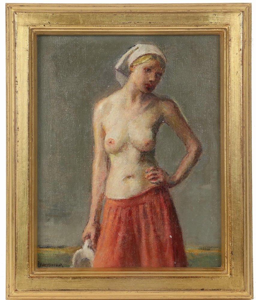 "ROBERT BRACKMAN (NY/CT, 1898-1980) - ""Study #3"" (Red"