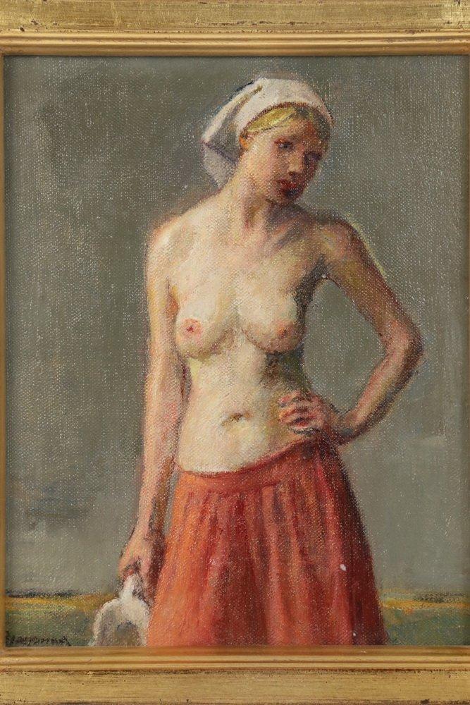 "ROBERT BRACKMAN (NY/CT, 1898-1980) - ""Study #3"" (Red - 2"