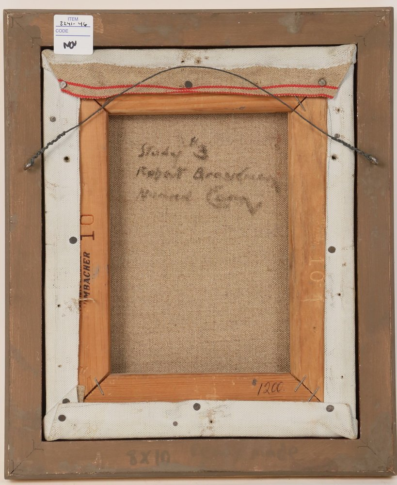 "ROBERT BRACKMAN (NY/CT, 1898-1980) - ""Study #3"" (Red - 4"