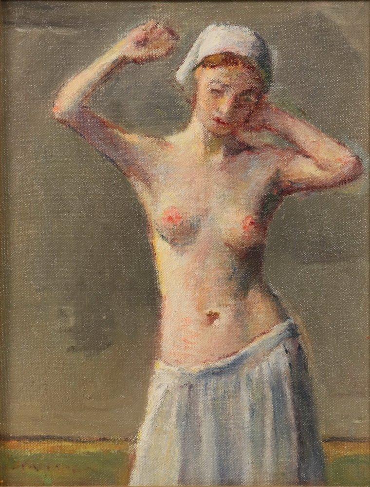"ROBERT BRACKMAN (NY/CT, 1898-1980) - ""Study #4"" (Blue - 2"