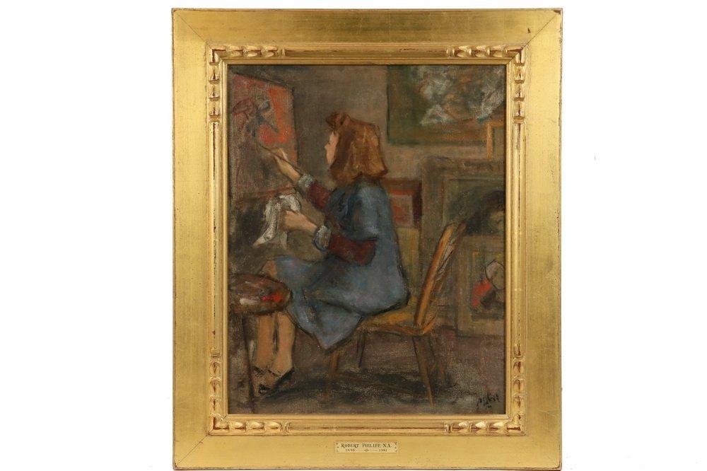 "ROBERT PHILIPP (NY, 1895-1981) - ""Artist's Wife"