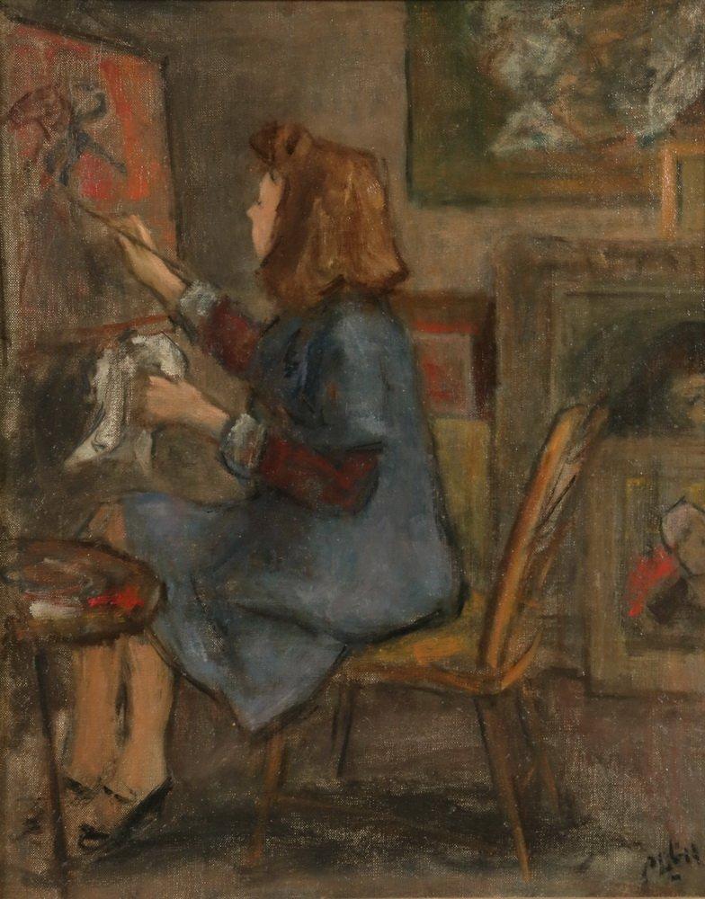 "ROBERT PHILIPP (NY, 1895-1981) - ""Artist's Wife - 2"