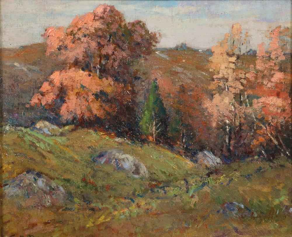 "EDWARD A. PAGE (MA, 1850-1928) - ""Sketch in Salem - 2"