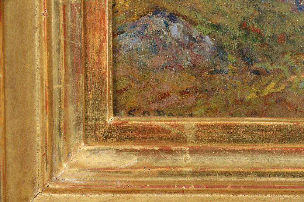 "EDWARD A. PAGE (MA, 1850-1928) - ""Sketch in Salem - 3"