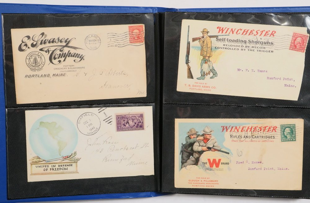 COLLECTION OF (114) POSTAL COVERS - Mid 19th to early