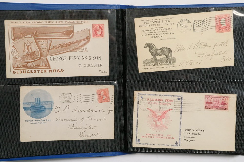 COLLECTION OF (114) POSTAL COVERS - Mid 19th to early - 2