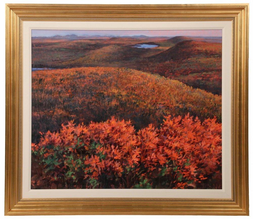 "NINA JEROME (Contemporary Maine) - ""Chick Hill, October"