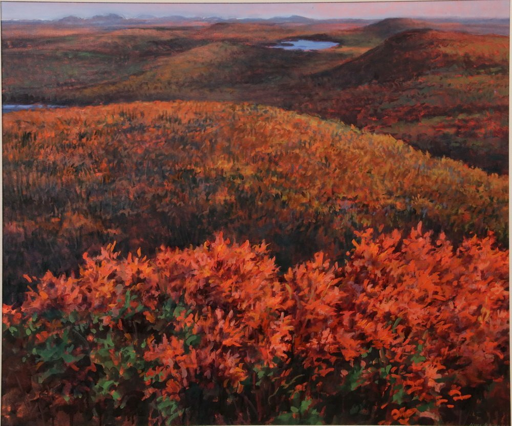 "NINA JEROME (Contemporary Maine) - ""Chick Hill, October - 2"
