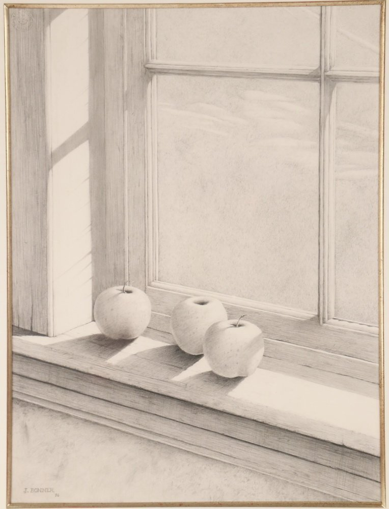 "JAMES BONNER (AR/ME, 1959 - ) - ""Three Apples"", - 2"