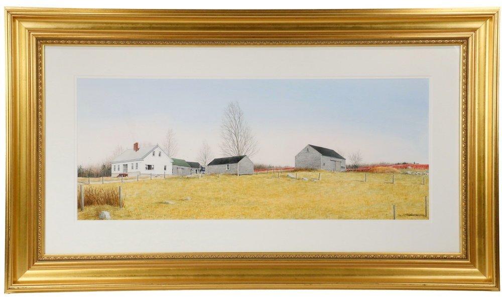 """GREGORY DUNHAM (MA/ME, 1946 - ) - """"Penobscot Farm"""","""