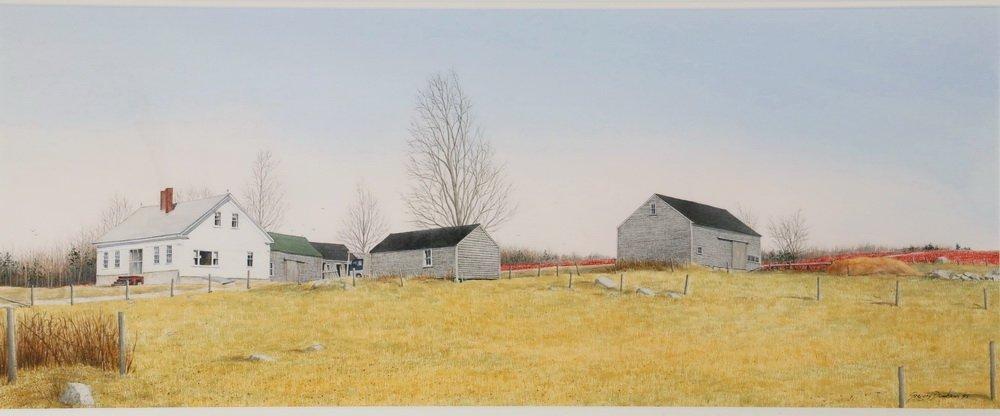 """GREGORY DUNHAM (MA/ME, 1946 - ) - """"Penobscot Farm"""", - 2"""
