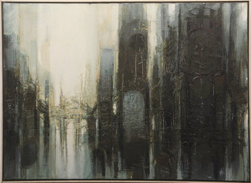 "DONALD STOLTENBERG (WI, 1927 - ) - ""Baroque Ruin"","