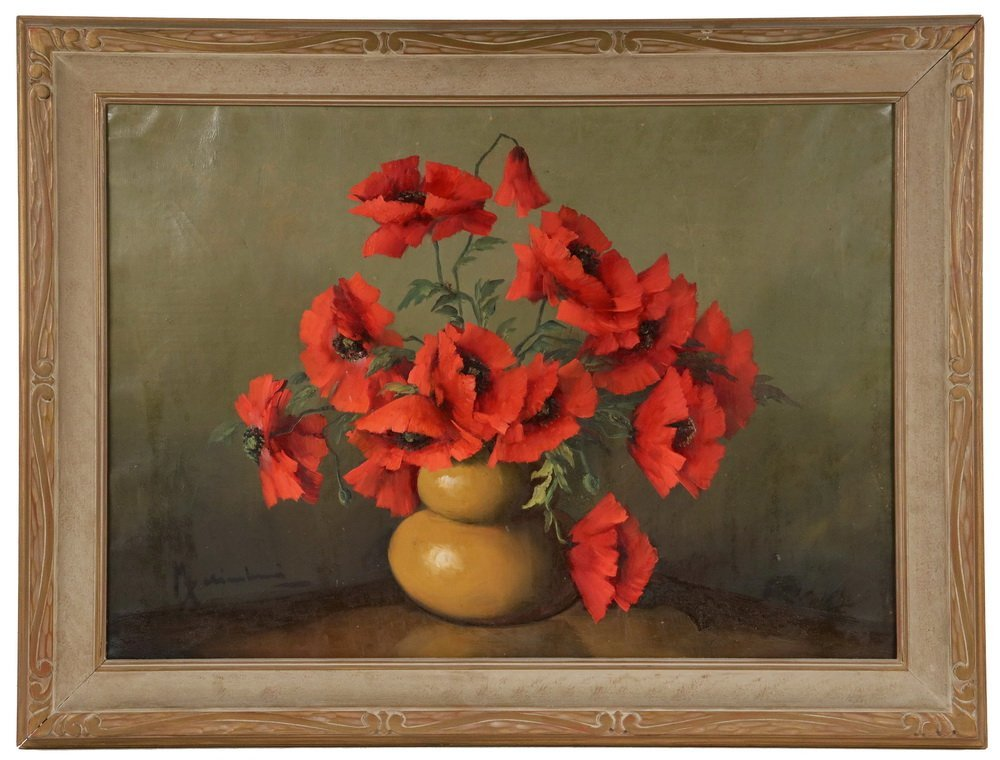 UNIDENTIFIED ITALIAN ARTIST - Still Life of Poppies in