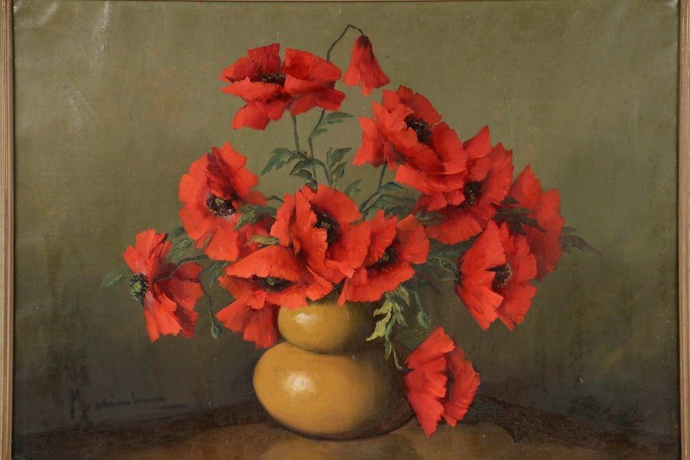 UNIDENTIFIED ITALIAN ARTIST - Still Life of Poppies in - 2
