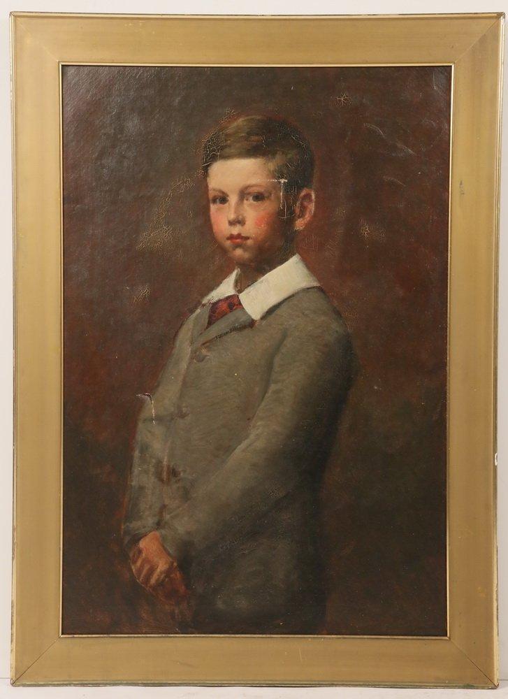 BOSTON SCHOOL - Three-Quarter Length Portrait of a