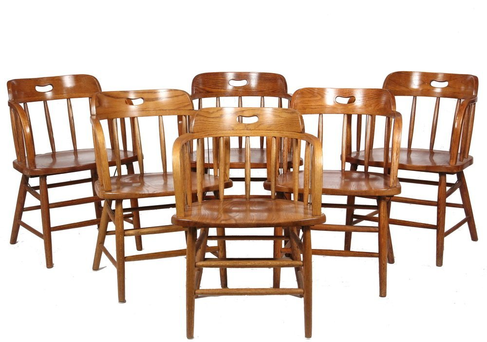(SET OF 6) REPLICA FIREHOUSE WINDSOR CHAIRS - Classic