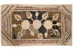 HOOKED RUG ON STRETCHER  40 x 22 12