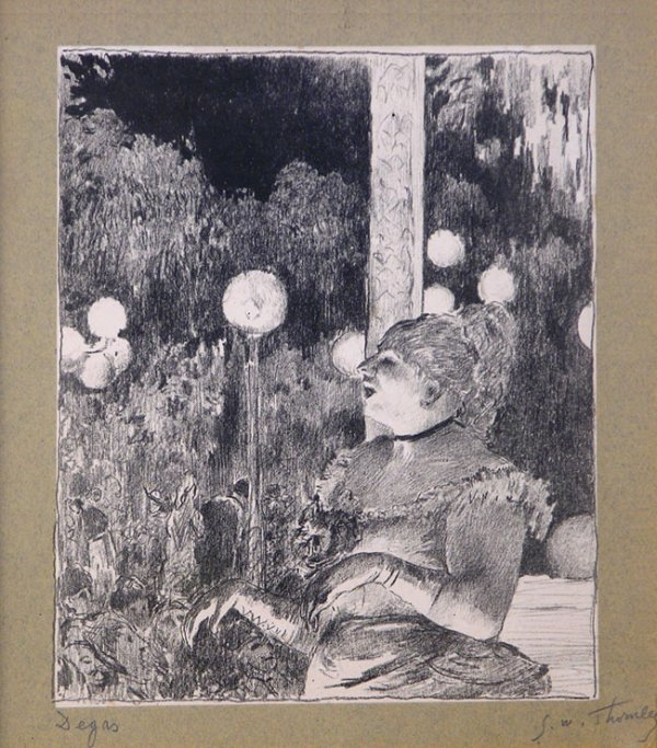 171A: Degas, Edgar, Lithograph Edition of 25 Signed