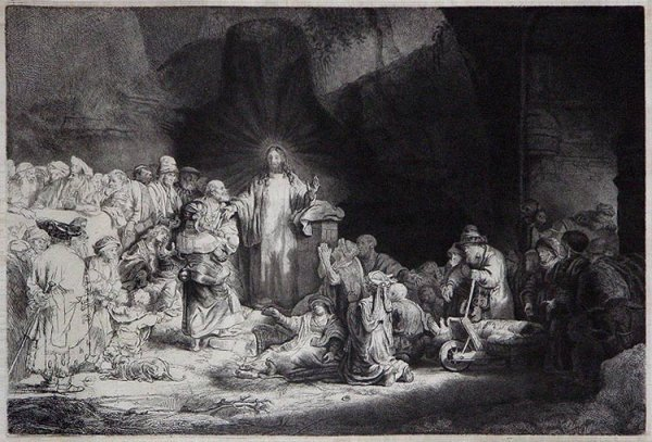 339A: Rembrandt, Original Etching Old Master, CE 1649