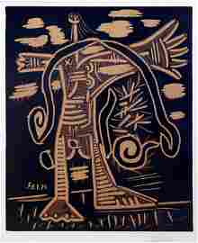Picasso, Pablo, Original Linocut / Linoleum Cut