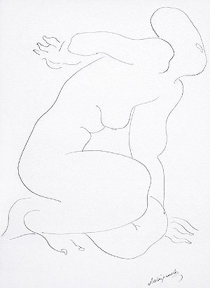 110C: Archipenko, Alexander, Original Unique Drawing
